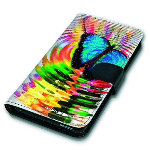 Wallet Book Style Flip Handy Tasche Case Schutz Hülle Schale Motiv Etui für Apple iPhone 5 / 5S - Variante UMV10 Design12 Design 11