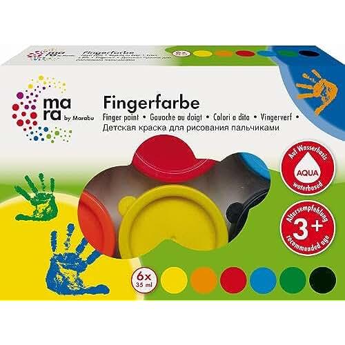 jirafa kawaii para colorear y mas Marabu - Pintura de dedos
