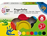Mara by Marabu 042100088 - Fingerfarbe, 6 x 35 ml