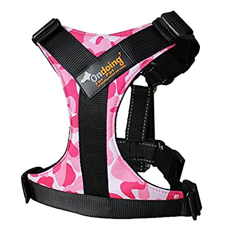 Treat Me Reflective Pet Harness with Handle, Adjustable Dog Vest Padded With Dog Leads Ring, Straps Breathable for Car, Small Medium Large Dog Training Walking