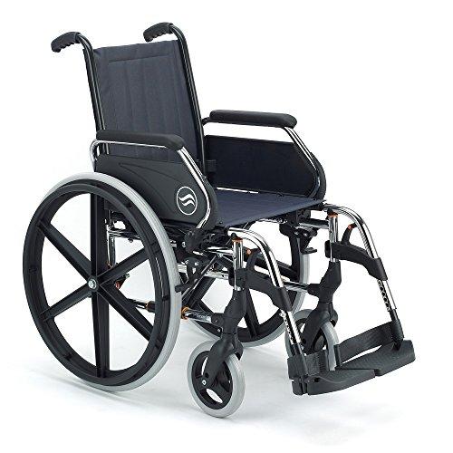 Silla de ruedas manual en acero plegable Breezy 250 asiento 40 cm