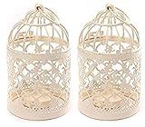 Dosige 1 paar Metall Vogelbauer Kerzenhalter Vogelkäfig Leuchter Hochzeit Kerze Kerzenhalter Vintage-Stil, klassischer, europäischer Stil, 14 x 8 cm
