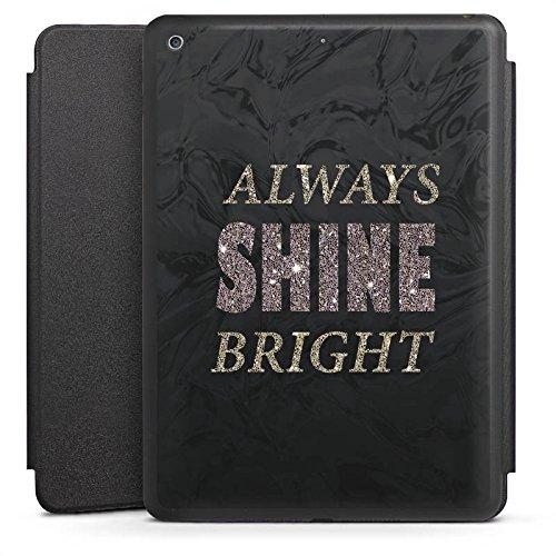 DeinDesign Apple iPad 5 Smart Case schwarz Hülle mit Ständer Schutzhülle Shine Brille Glitter