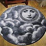GAOLI tappeti Rotondi vivono Tappeto Sala del Modello di Ragazza Bianca Nero Morbido e Confortevole antiusura Facile da Pulire, 180 Centimetri, 100 Centimetri