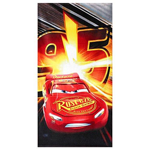 Setino Disney Cars Badetuch Strandtuch, 70 x 140 cm (Motiv: Lightning McQueen)