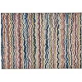Alfombra moderna multicolor de ondas Sitap – Alfombra (lana sintética Laguna 63298 – 9191