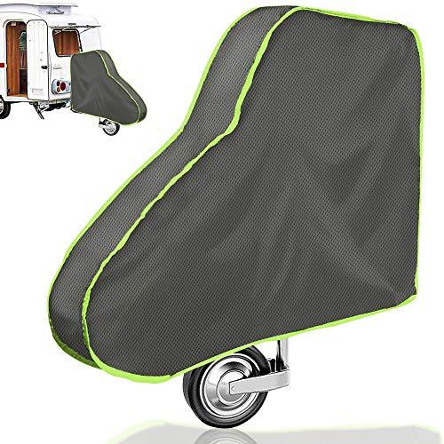 Deichselabdeckung, Universale Deichselhaube Deichselabdeckung für Wohnwagen und Anhänger Große Deichselschutz mit Reflexstreifen Deichselschutzhülle für Deichseln Anhängertypen mit Kastenschloss