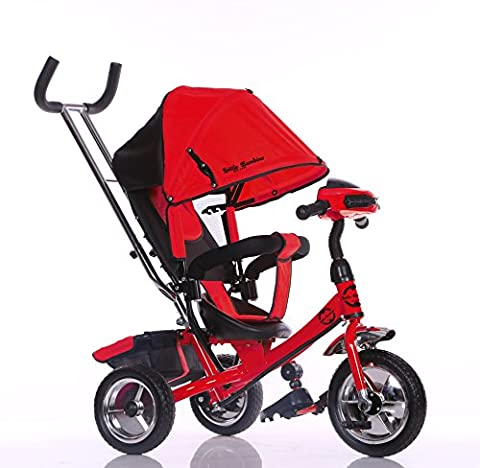 Little Bambino 4 IN 1 Canopy Kids Tricycle For Toddler Age 1-6 Year Old Bike Trike n Ride Push Handle Buggy Pram |