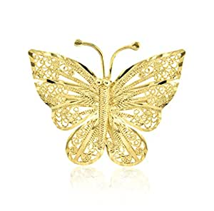 Carissima Gold - Broche - 1.71.0211 - Femme - Or Jaune 375/1000 (9 Cts) 2.6 Gr