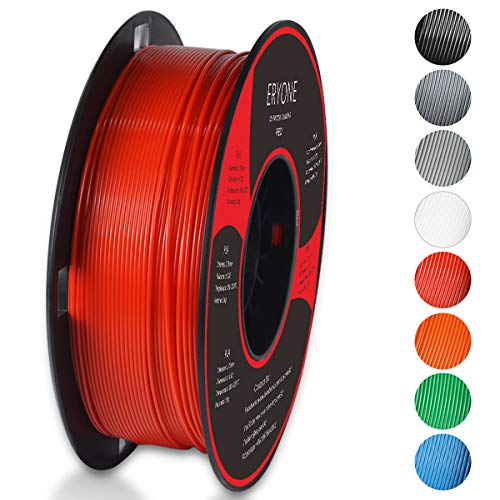 Price comparison product image PLA Filament 1.75mm,  ERYONE Filament PLA 1.75mm,  3D Printing Filament PLA for 3D printer,  1kg 1 Spool,  Red