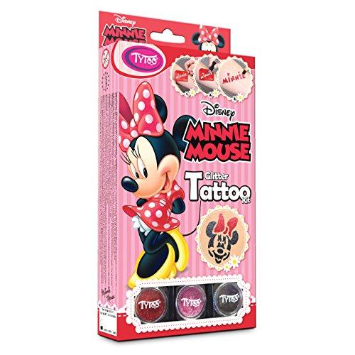 Disney Minnie Mouse Glitter Tattoo Kit 12 Amazing Schablonen - Hypoallergen, Ohne Tierversuche Hergestellt - für 8-18 Tage, Temporäre Tattoos (Frozen Stück-figur-set 6)