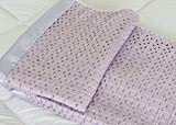 Sugglemore Lightweight 100% Acrylic Cellular Blanket Single, Double, King (Single 180 x 230cm, Lilac)
