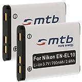 2x Akku EN-EL10 für Nikon Coolpix S230, S500, S510, S520, S570, S600.... (siehe Liste)