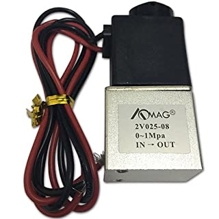 AOMAG 1/ 4 Zoll DC 12V 2-Wege- Öffner Elektromagnetluftventi