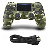 Qiyun Game Controller Console USB Wired Connection Gamepad for Sony PS4colour:Army green