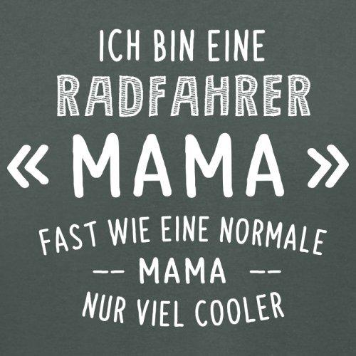 Ich bin eine Radfahrer Mama - Damen T-Shirt - 14 Farben Dunkelgrau