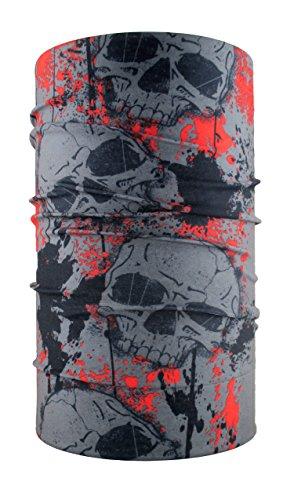 Head loop multifunción Pañuelo Bufanda braga con diseño de calavera de la cabeza de microfibra paño de limpieza