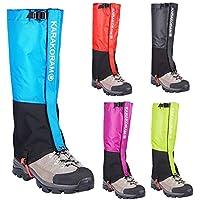 Protector de pierna impermeable polainas A prueba de agua Senderismo Gaiters Duradero Legging Gaiter Transpirable Cubierta de pierna alta Envolturas para niños Montaña Trekking Esquí Caminar Escalada
