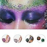 Glitzer, Walmeck Glitzerpulver DIY Festival Glitter Party Kosmetische Gesicht Chunky Body Carnival Decor ultradünne Nagel Pailletten - 5