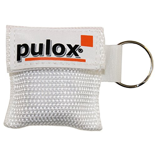 PULOX RESPI-Key Schlüsselanhänger Beatmungsmaske in 6 Farben erhältlich (weiss)