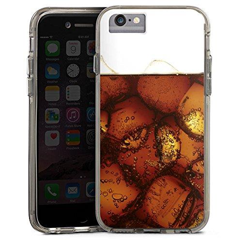 Apple iPhone 6s Bumper Hülle Bumper Case Glitzer Hülle Cola Getraenk Eiswuerfel Bumper Case transparent grau