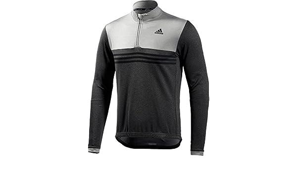 adidas Response Plures Long Sleeve Jersey - Black Grey - S  Amazon.co.uk   Sports   Outdoors c42801271
