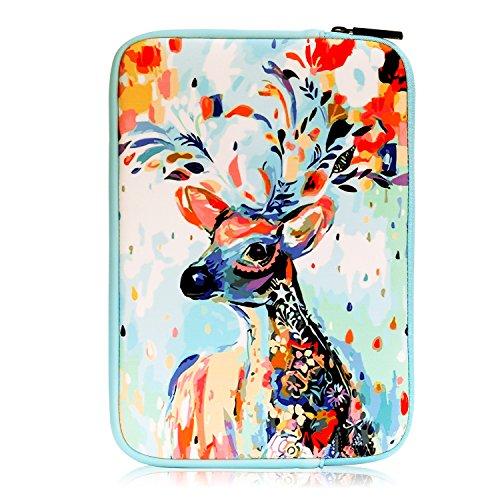 "MoKo Etui Housse Classique en Néoprène pour iPad 1/2/3/4, iPad Air/Air 2, iPad Pro 9.7"", Lenovo Yoga Book(10.1 Inch), Samsung Galaxy Tab E 9.6, Tab A 10.1, Cerf de Noël"