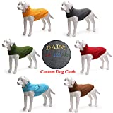Customize Dog Cold Weather Coats - Fleece Windproof Plush Sport Dog Clothes Vest - Personalized ID Embroidered Dog Name & Phone Number Dog Jacket Apparel - for Small Medium and Large X-Large Dogs