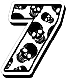 Startnummer Nummer Zahl Auto Moto Vinyl Aufkleber Sticker Motorrad Motocross Motorsport Racing Tuning Skull Totenkopf Schädel (7), N138