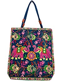 Women's Printed Multi Coloured Shoulder Bag/Traditional Bag/Jhola Bag Stylish Elegance/jaipuri Rajsthani Bag - B079H4T98J