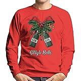 Cloud City 7 Gingle Bells Christmas Bow Men's Sweatshirt