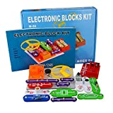 Jhua 58 fai da te circuiti per bambini kit di scoperta elettronica kit educativo elettronico block esperimenti scientifici kit miglior kit giocattolo per 5-8 età bambini