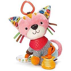 Amazemarket Multifunktional Baby Kleinkind schön ausgestopft Tier Krippe Kinderwagen hängend Spielzeug Karikatur Elefant Kinder Früh Bildung (Katze)