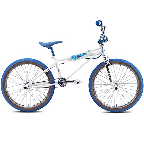 SE Bikes Quadangle Freestyle 24 Zoll BMX Weiß/Blau (2016)