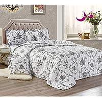 تصميم مزدوج الجوانب، مجموعة لحاف الصيف، نمط الزهور، طقم سرير 4/6 قطع Single Size