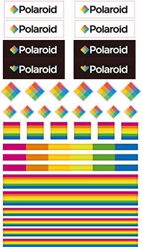 Polaroid bunte und dekorative Polaroid Logo- und Farbensticker für 5 x 7,5 cm Fotopapier Projekte (Snap, Zip, Z2300) - 3er-Pack