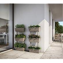 VASO VASI FIORIERE FIORIERE DA GIARDINO ORTO VERTICALE TORTORA KIT 1PZ 50x17x100H - giardino