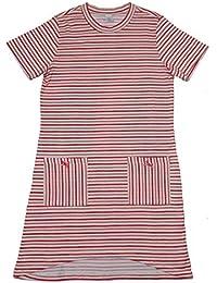Kanz Mädchen Nachthemd Kurzarm weiss rosa orange