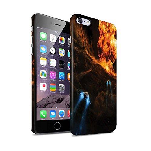 Offiziell Chris Cold Hülle / Glanz Snap-On Case für Apple iPhone 6S+/Plus / Pack 12pcs Muster / Fremden Welt Kosmos Kollektion Chaos Entfesselt