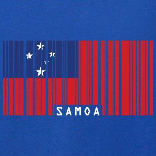 Samoa / Unabhängiger Staat Samoa Barcode Flagge - Herren T-Shirt - 13 Farben Royalblau