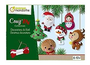 Avenue Mandarine-Caja Creativa, Condecoraciones de Navidad Mini couz