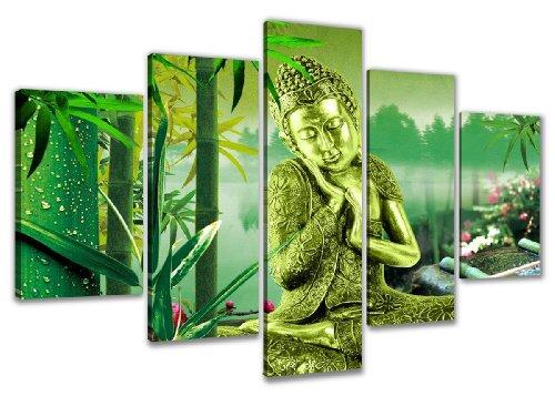 Cuadro en Lienzo 160 x 80 cm Nr. 5521 Buda enmarcado y listo para colgar, calidad de la marca Visario
