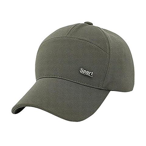 Casquettes De Baseball,OverDose Unisex Baseball Cap Solid Hat Hip-Hop Adjustable Sun Hat (Vert)