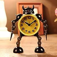 Creative deformazione Robot allarme orologio muto orologio messaggio clip Home decorativo orologio giocattolo regalo - giallo - Clip Flute