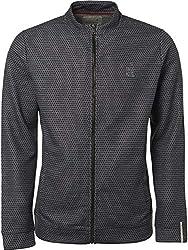 NO EXCESS Herren Sweater Jacke Full Zip Pullover Pulli Cardigan Jacquard Pockets