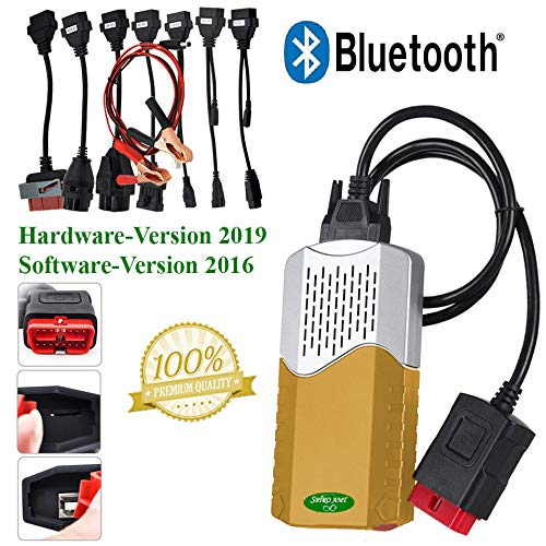 Price comparison product image Spiro Office Professional Car Diagnostic Device Gold for Cars and Trucks up to Year of Manufacture 2016 Wow! Includes OBD adaptor cable OBD2 with Bluetooth