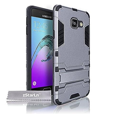 zStarLn® gris Housse pour Samsung Galaxy A5 2016 Coque Dual Layer Hybride Tough Armor Etui