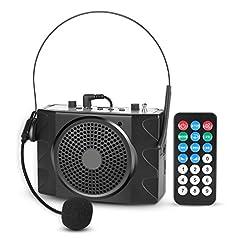 Idea Regalo - LOETAD Mini Amplificatore Altoparlante di Voce Insegnante Microfono Auricolare Regolabile da Cintura Ricaricabili Portatile 38W Speaker con per Insegnanti, Guide Turistiche, e Coach