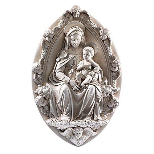 Design Toscano Madonna mit dem Kinde (1430), Wandfigur