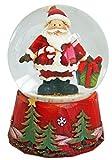 Weihnachts-Schneekugel Weihnachtsmann - Weihnachtsschneekugel auf rotem Sockel